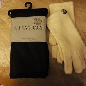 New pair of fleeced tights & gloves